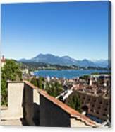 Lucerne Old Town In Switzerland Canvas Print