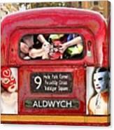 Lucha Bus London Canvas Print
