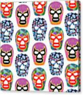 Lucha Libre Masks Canvas Print