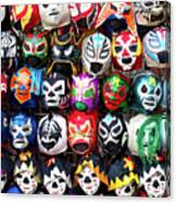 Lucha Libre Wrestling Masks Canvas Print