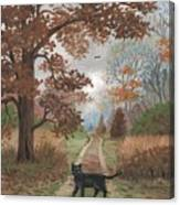 Lucky Crossing Canvas Print