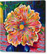 Lucky We Live Hibiscus Canvas Print