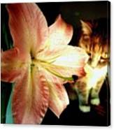 Lucy With Lily Canvas Print