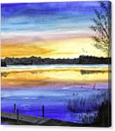 Ludington Sunrise Painting Canvas Print