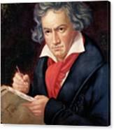 Ludwig Van Beethoven Composing His Missa Solemnis Canvas Print
