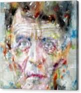 Ludwig Wittgenstein - Watercolor Portrait.2 Canvas Print