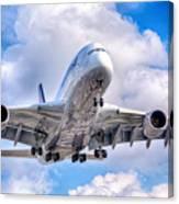 Lufthansa Airbus A380 In Hdr Canvas Print