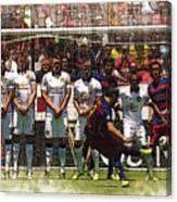Luis Suarez Hits The Post Canvas Print