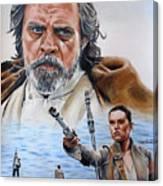 Luke And Rey Canvas Print