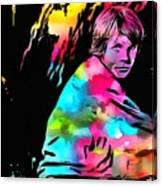 Luke Skywalker Paint Splatter Canvas Print