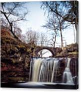 Lumb Falls Panoramic Canvas Print