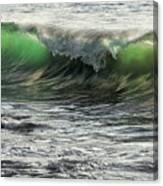 Luminous Evening Light Shines Through Incoming Waves At Hapuna Beach. Canvas Print