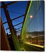 Luminous Green Bridge Canvas Print