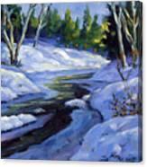 Luminous Snow Canvas Print