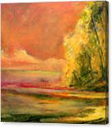 Luminous Sunset 2-16-06 Julianne Felton Canvas Print