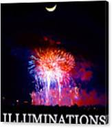 Lunar Illumanations Epcot Canvas Print