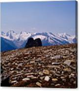 Lunar Landscape In The Mountains Canvas Print