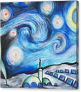Lunar Starry Night Canvas Print