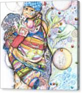 Lunas Y Estrellas Perdidas- Sombra De Arreguin Canvas Print