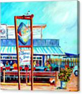 Lunch At The Clam Bar Canvas Print