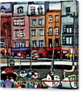 Lunch At The Harbor Canvas Print