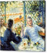 Lunch At The Restaurant Fournaise, The Rower's Lunch Canvas Print