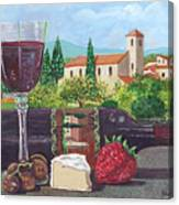 Lunch In Provence Canvas Print