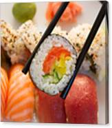Lunch With  Sushi  Canvas Print