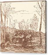 Luncheon In A Clearing (un Dejeuner Dans La Clairiere) Canvas Print