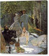 Luncheon On The Grass, Centre Panel Canvas Print