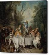 Luncheon Party In A Park Canvas Print