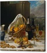 Luncheon Still Life, At And By John F. Francis Canvas Print