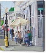 Lunchtime In Florence, Or Canvas Print
