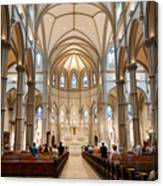 Lunchtime Mass At Saint Paul Cathedral Pittsburgh Pa Canvas Print