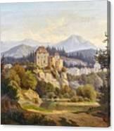 Lunde, Anders Christian Copenhagen 1809 - 1886 Grotta Ferrata. Oil On Canvas. Relined Canvas Print