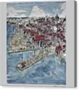 Lunenburg Port Canvas Print