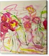 Lush Flowers Canvas Print