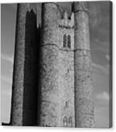 Lusk Round Tower B And W Canvas Print