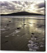 Luskentyre Beach Sunset Canvas Print