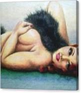 Lustful Beauty Canvas Print