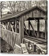 Luther Mills Bridge In Monochrome Canvas Print