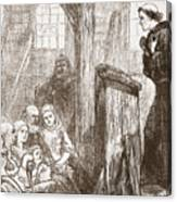 Luther Preaching In The Old Wooden Church At Wittemberg Canvas Print
