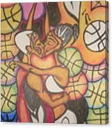 Luv N B'ball Canvas Print