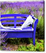 Luvin Lavender Farm Bench Canvas Print