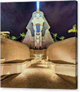 Luxor Casino Egyptian Sphinx Las Vegas Night Canvas Print