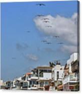 Luxury Beach Houses Malibu Canvas Print