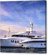 Luxury Yachts Canvas Print