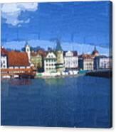 Luzern Lake Front Canvas Print