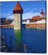 Luzern Tower Canvas Print