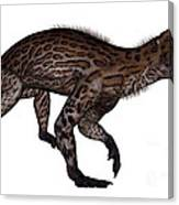 Lycaenops Dinosaur Walking, White Canvas Print